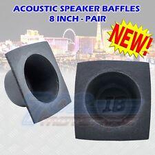 "8"" Inch Foam Bass Reflex Acoustic Car Audio Speaker Baffles (Pair) 8"" Covers"