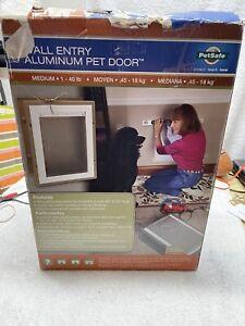 Petsafe Medium Aluminum Wall Entry Pet Door - Telescoping Tunnel - Open Box