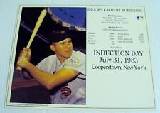 """BROOKS ROBINSON HALL OF FAME OFFICIAL LICENSED  8X10""""  PHOTO"""