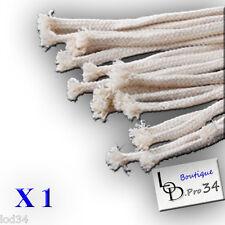 1 Mèche en coton 40 cm de long 6.3 mm de diamètre pour lampe huile,pétrole
