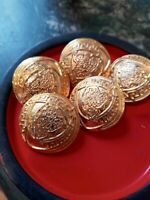 VERSACE buttons lot of  5 HEAD of Medusa Gold Tone metal size 26 mm