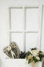 Deko Fenster Fensterrahmen Sprossenfenster mit Blumenkasten Weiß Holz Shabby