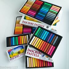 Inscribe Soft Pastels in packs of 24/32/48/64 Artist Sets Assorted Colours