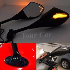 Motorcycle LED Turn Signal Mirrors For HONDA CBR600RR 1000RR 500R SUZUKI GSXR US