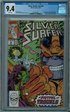 SILVER SURFER #V3 #44 CGC 9.4 1ST INFINITY GAUNTLET WHITE PAGES 1990 KEY BOOK 🔑