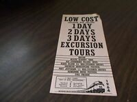1964 NH NEW HAVEN NYNH&H LOW COST EXCURSION TOURS BROCHURE