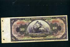 Venezuela (Banco Mercantil y Agricola) 100 bolivares 1929-35 - Unc