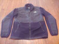 THE NORTH FACE Denali Fleece Jacket Black Sz M Medium Men's Full Zip PolarTec