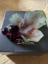 Daum France Vide Poche Figues Pate de Verre Fig Dish Bowl Purple & Green Crystal