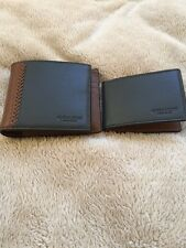 Coach Men's Baseball Stitch Leather Compact ID Wallet F75170 $185