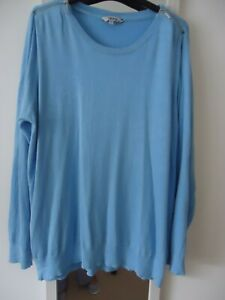 Pale Blue Jumper-unusual size 22-24 new without tags**