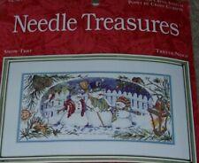 Needle Treasures Snow Trio Cross Stitch Kit New By Lila Rose Kennedy