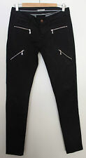 HUNKY DORY STOCKHOLM ~ Black Skinny Stretch Moto Jeans ~ 28 Small