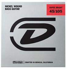 JIM Dunlop Super Luminosi Nickel Wound Corde Basso-Medio 45-105