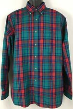 Vintage Mens Pendleton Virgin Wool Colorful Plaid Button Down Shirt Large USA