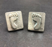 Vintage Craftool Leather Stamps Small Left and Right Feet 8201 and 8202