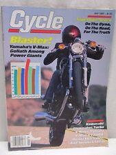 Vintage Cycle Magazine May 1985 Motorcycle Yamaha V-Max Kawasaki Eliminator