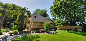 FREE FITTING Green Oak Framed House Annexe Garage Cart Lodge