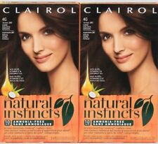 2 Clairol Natural Instincts 4G Dark Golden Brown Aloe Coconut Oil Permanent