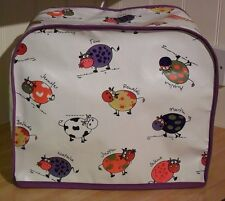 Purple Edged Cartoon Cows Vinyl Cover for Kenwood Chef Food Mixers