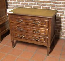 Louis XV Style Vintage French Carved Oak Chest of 3 Drawers  - (030102)