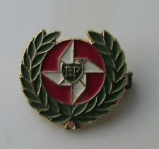 BP BRITISH PETROLEUM SMALL ENAMEL PIN BADGE 1970's MADE IN MILANO ITALY OIL GAS