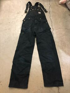 MENS 32 x 34 - Vtg Carhartt R01 Duck Unlined Double Knee Overall Made USA