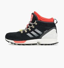 Mens Adidas Originals ZX Flux Winter Running Shoes Size 8 Black White Red S82931