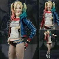 SHF DC Suicide Squad Harley Quinn Action Figures Toys Doll for Halloween