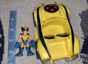 Playskool Marvel Super Hero Squad Wolverine Claw Cruiser & Figure World Ship BIN