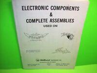 Williams POKERINO PHOENIX ++ 1979 Pinball Machine Electronic Components Manual