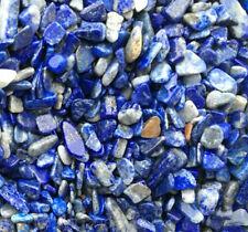 Natural 8mm lapis lazuli crushed stone gravel semi-precious mixed blue random