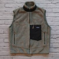 Vintage 90s Patagonia Pile Fleece Vest Size L Made in USA Green