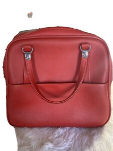 """VTG Red American Tourister Tiara Soft Carry On Luggage Overnight Bag 16"""" EVC"""