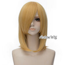For Howl Yellow Blonde Basic Medium 45CM Anime Party Cosplay Wig + Wig Cap