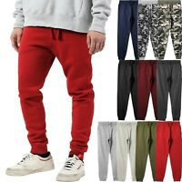 Mens Jogger Pants Sweatpants French Terry Active Gym Lounge Sleep Skinny Fit NEW