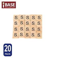 20x Wooden Alphabet Scrabble Tiles Letter S Scrapbooking Complete Handcraft
