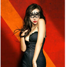Ladies Sexy Black Cotton Lace Eye Mask Costume Party Fancy Dress Masquerade Ball