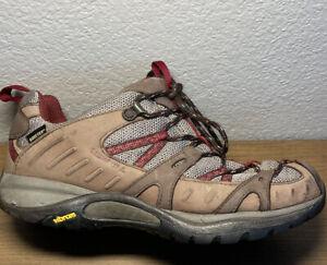 Merrell Womens 8 Siren Sport Gore Tex XCR Stone Cordovan Hiking Shoes Vibram