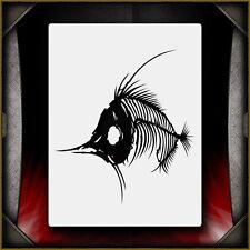 Fish Bones 2 -  Airbrush Stencil Template Airsick