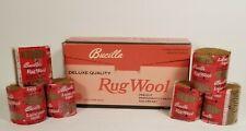 Bucilla Precut Rug Wool Yarn Latch Hook #3 Walnut Lot 9702 (16) -1 oz. Units Nos