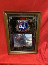 Old Style Beer Wildlife Series Eastern Wild Turkey Mirror Advertising Sign 1993