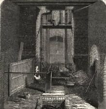 The Lundhill Colliery explosion: mouth of the downcast shaft. Yorkshire, 1857