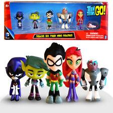 Teen Titans Go Figure Robin Raven Beast Boy Starfire Figurine Model Kids Toys UK