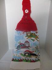"Christmas Crochet Kitchen Towel ""Cats"" ~ **Gift Idea"