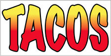 Tacos Vinyl Banner Sign New 2x4 ft - wb