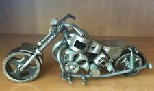 """MOTORCYCLE METAL ART SCULPTURE HAND CRAFT HOME BAR DECOR ART 12"""" LONG"""