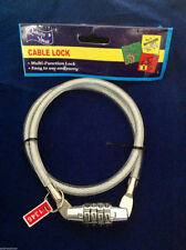 Multi-Function Lock Cable Bicycle 4 digit Security Combination AU Stock
