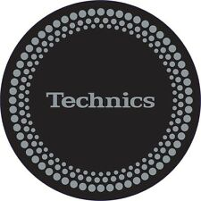 Technics Silver Dots Design on Black Slipmats - 2 Slipmats:  Official DMC World