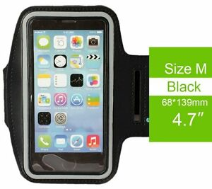 for iPhone 6 6S 7 8 - BLACK BLUE Running SPORT GYM Workout Armbands Pouch Case